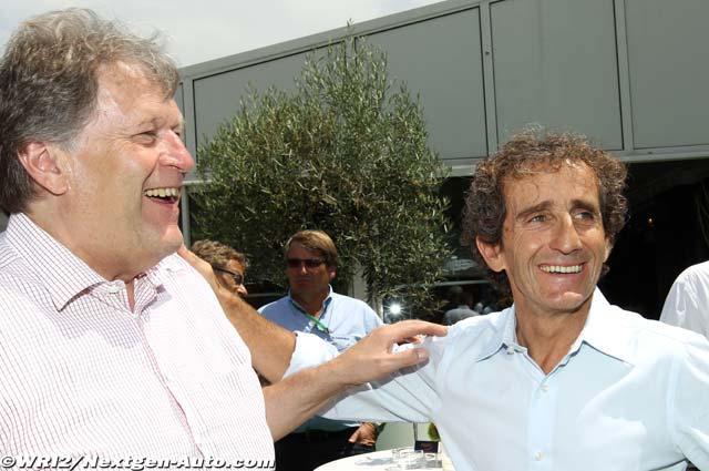 Норберт Хауг и Алан Прост на Гран-при Монако 2011
