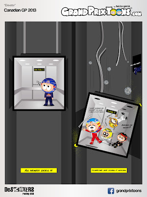 комикс Grand Prix Toons про лифт Гран-при Канады 2013