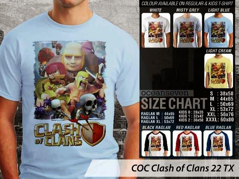 Kaos COC COC Clash of Clans 22 distro ocean seven