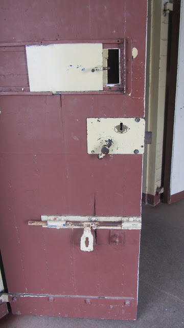 An old cell (and hostel room!) door.