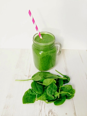 Creamy spinach and ginger smoothie
