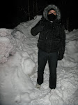 """We called Jose on the radio and told him to meet us outide...we just wanted to see him put all his snow gear on.  Among my favorite quotes of the night """"It's like Hoth cold out there"""" and """"You look like a Mexkimo"""""""