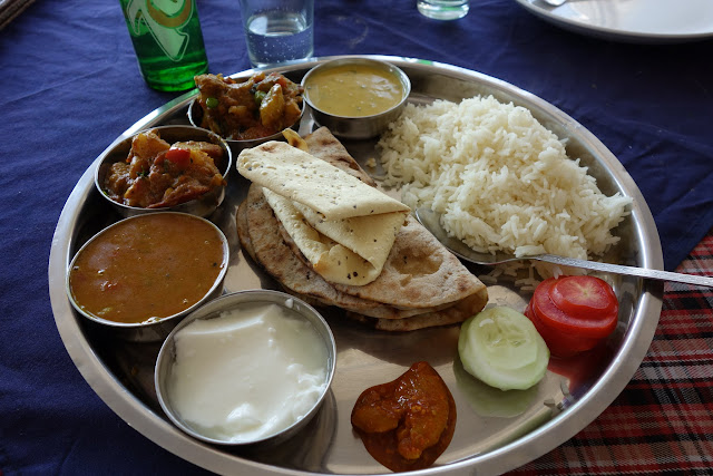 A beautiful thali lunch.