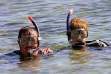 Mom and Dad Snorkeling at Bachas Beach