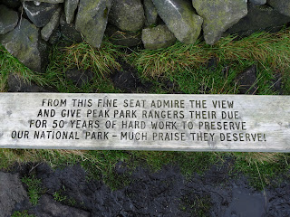 A peom on a bench at Shining Tor
