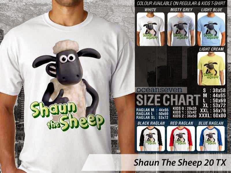 Kaos Movie Shaun The Sheep 20 distro ocean seven