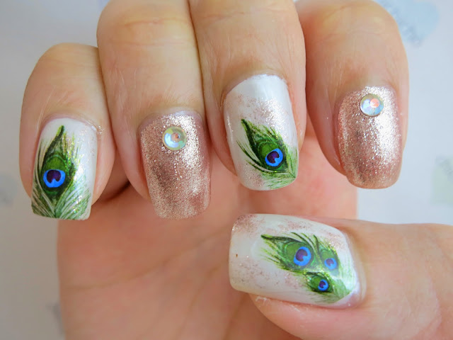 Peacock Feather Water Decal Nail Art Bop300 Chichicho