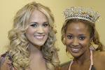 Carrie Underwood and Azalea Queen Tanisha Lynn at Meet-n-Greet