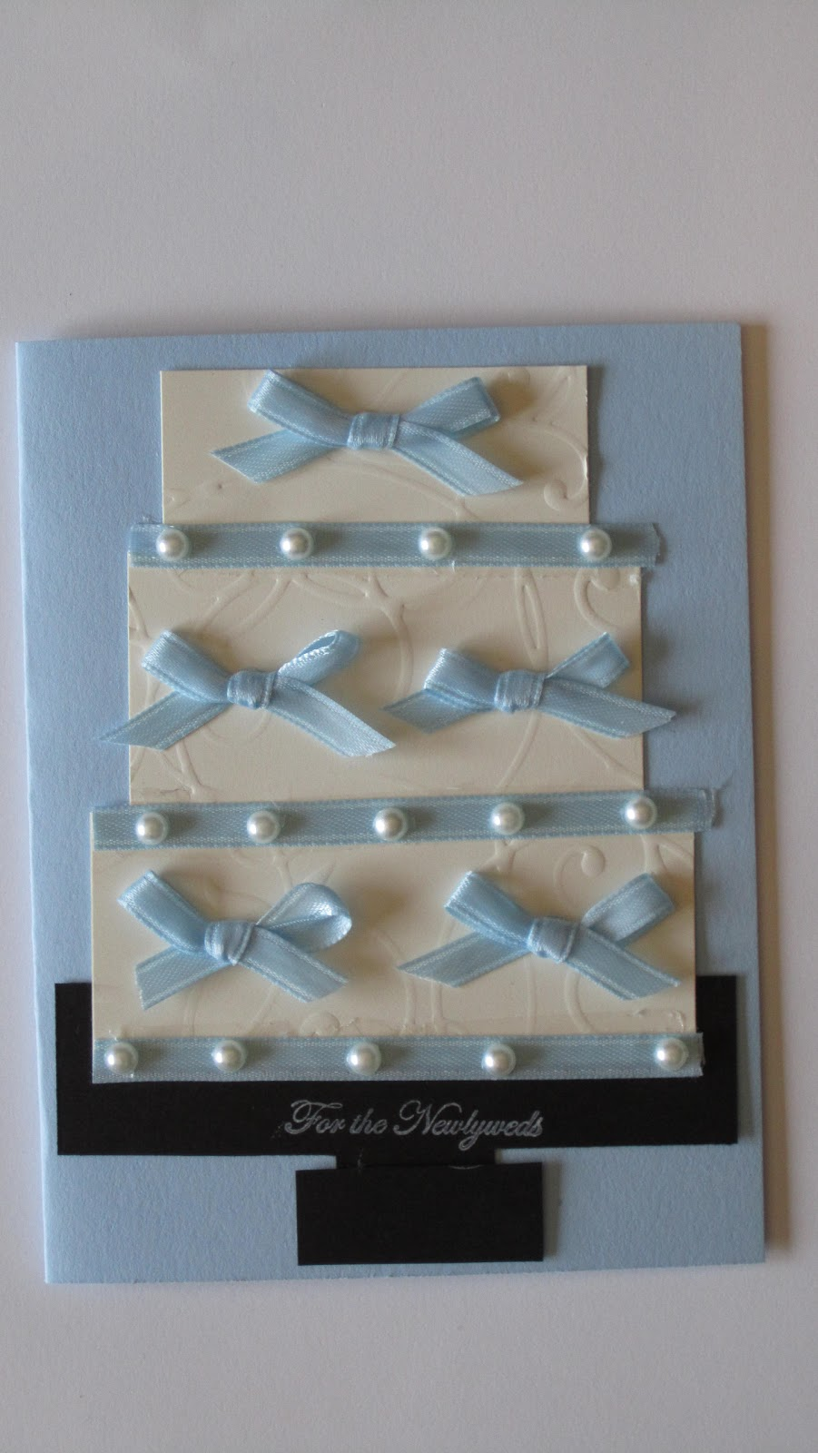 Two wedding cake cards