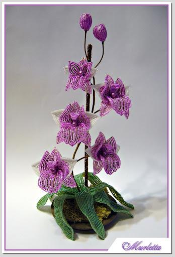 критерии оценки вязаного платка.  Схема плетения орхидеи из бисера мастер класс.