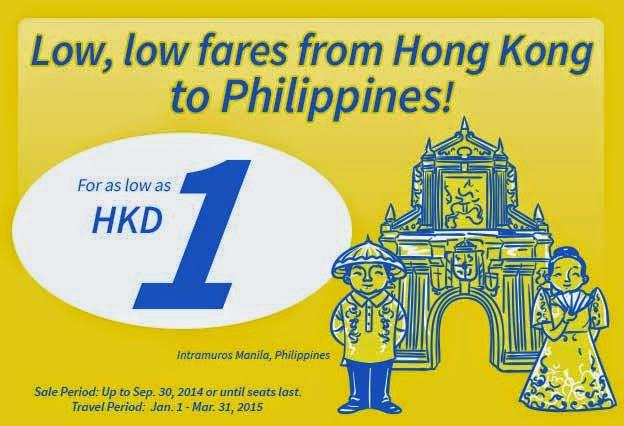 香港飛菲律賓來回機票,宿霧HK$1起(連税HK$609) ,馬尼拉$1起(連税$543),優惠至9月30日。
