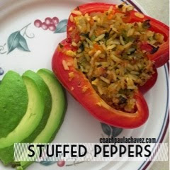 clean eating, stuffed peppers, healthy recipe, ground turkey recipe