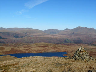 Woodend Height to Scafells. Devoke Water was not visable until I reached Woodend Height. It looks a loveley body of water from up here!!