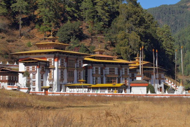 The very old and very beautiful Kurje Lakhang of Bhutan