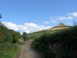Roseberry Topping from lane leading away from Newton Under Roseberry