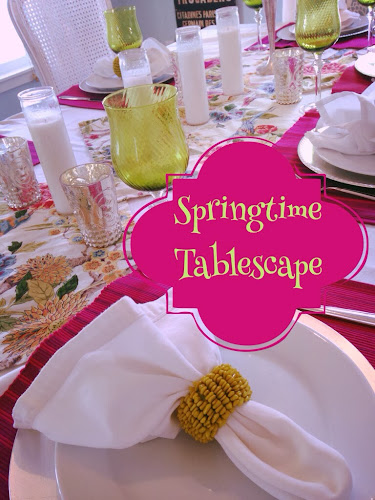 Springtime tablescape, stylesisters, spring looks