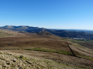 Looking towatds the Coniston Fells with Dow Crag, White Maiden and Caw (the pointed fell in the centre).