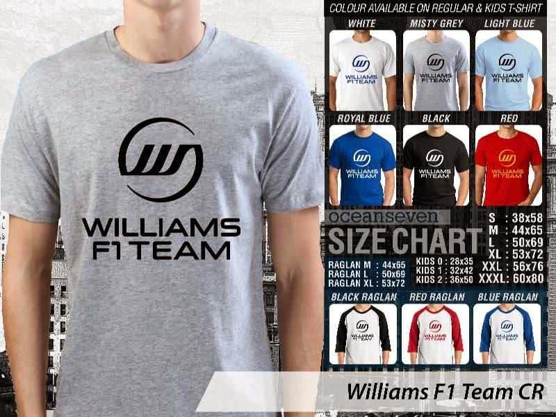 KAOS Williams F1 Logo Otomotif distro ocean seven
