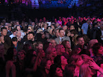 Blake is standing BEHIND the sea of screaming girls?  That must be a new one for him.