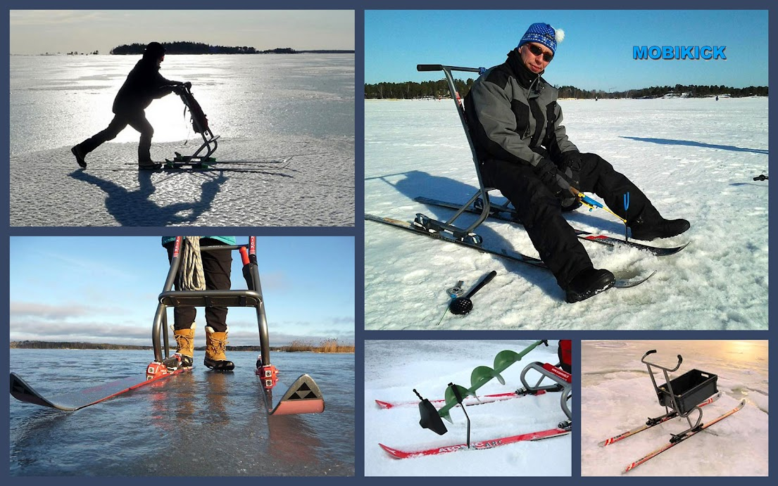 лыжи для рыболовных саней