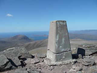 Bidein a Ghlas Thuill Trig Point & The Minch