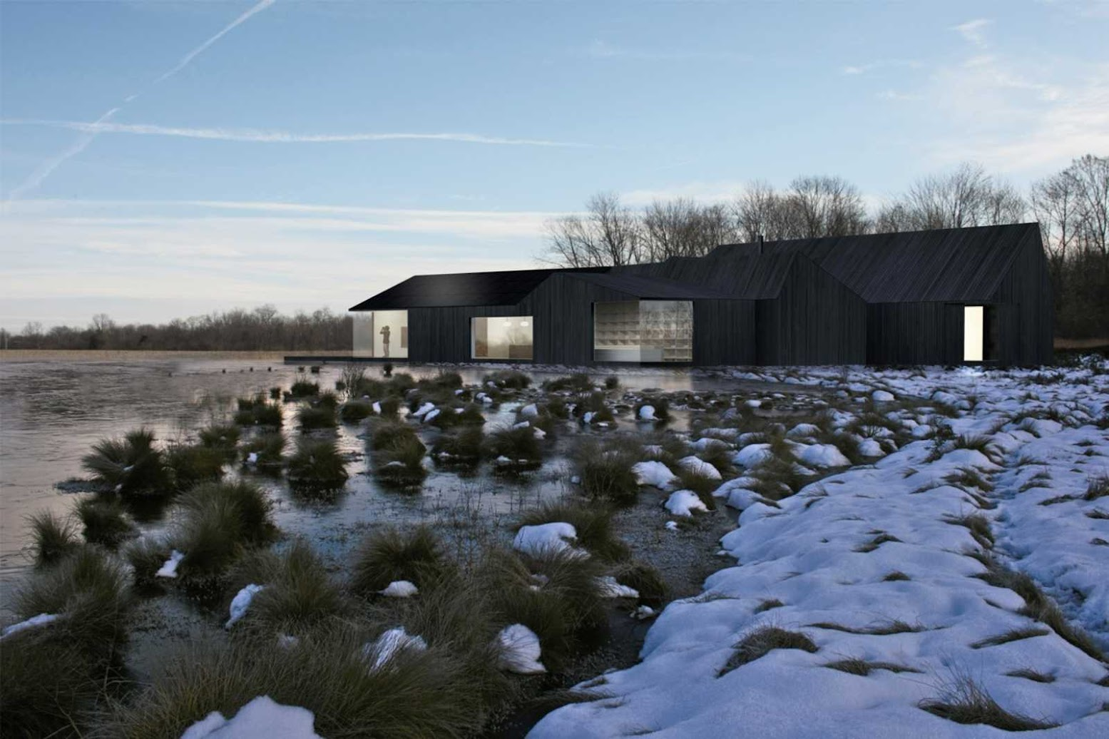 Ramsey Heights, Cambridgeshire PE26, Regno Unito: [GREAT FEN VISITOR CENTRE WINS SHIRO STUDIO]