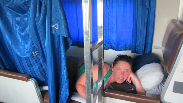 A good night's sleep on the Thai sleeper train.