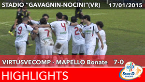 VirtusVecomp - Mapello Bonate Highlights del 17-01-2015
