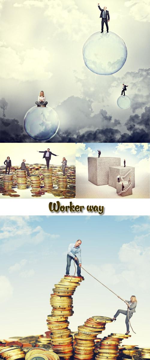 Stock Photo: Worker way