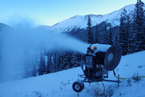 Snowmaking operations began last night for the 2013-2014 season at Araphoe Basin and Loveland ski areas. (Arapahoe Basin)