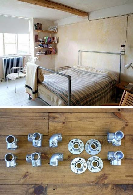 industrial look 26 stylische m bel aus rohrverbindern. Black Bedroom Furniture Sets. Home Design Ideas