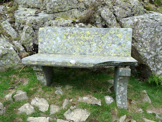 Memorial Seat above Yew Crag.