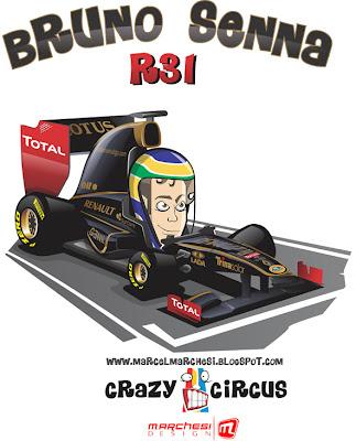 Бруно Сенна Lotus Renault R31 Crazy Circus Marchesi Design