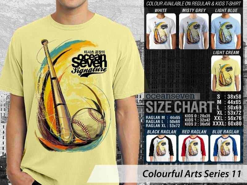 KAOS keren Colourful Arts Series 11 Baseball | KAOS Colourful Arts Series 11 distro ocean seven