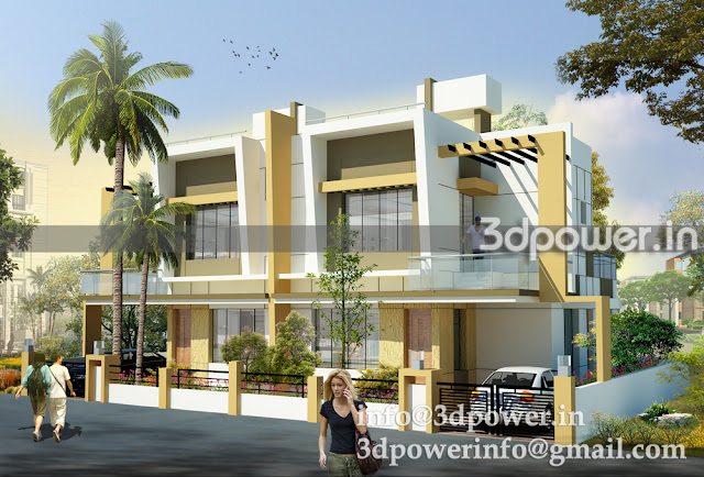3D view of Twin Bungalow.