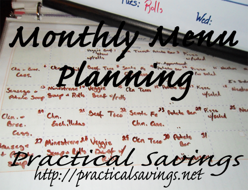monthly menu planning
