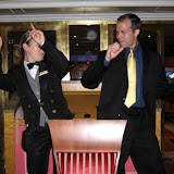 A Little Dancing with Our Waitress at Dinner - Carnival Valor