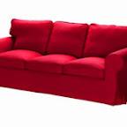 Canapé EKTORP rouge