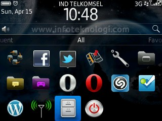 BlackBerry Homescreen