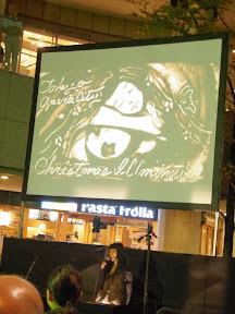 東京オペラシティのクリスマスイルミネーション点灯式2013