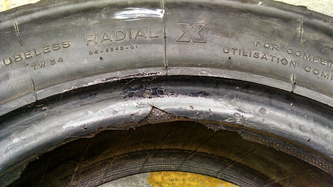 torn rally gravel tire bead what are my options