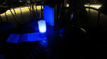Our blue-lit corner of the bar