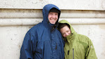 Jeff and Susan in their hooded glory - no umbrellas for them