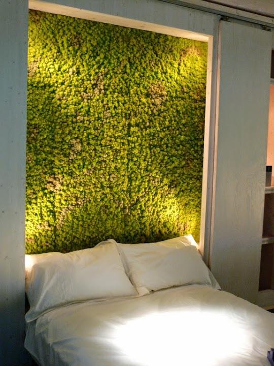schlafzimmer wand idee pflanzen