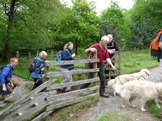 Ed opens the gate for some of the OFC walkers ...