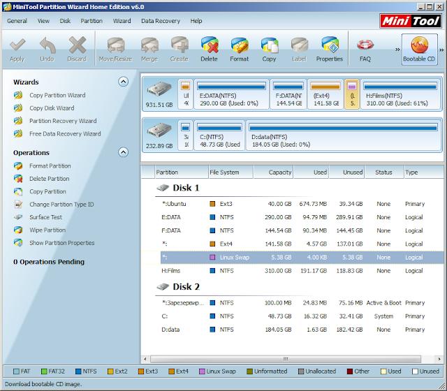 Minitool partition wizard home edition бесплатная, но мощная программа для