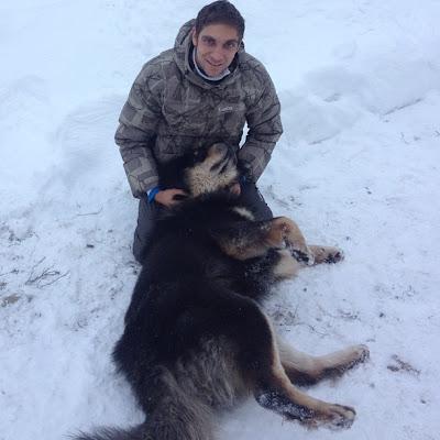 Виталий Петров и собака 9 декабря 2012