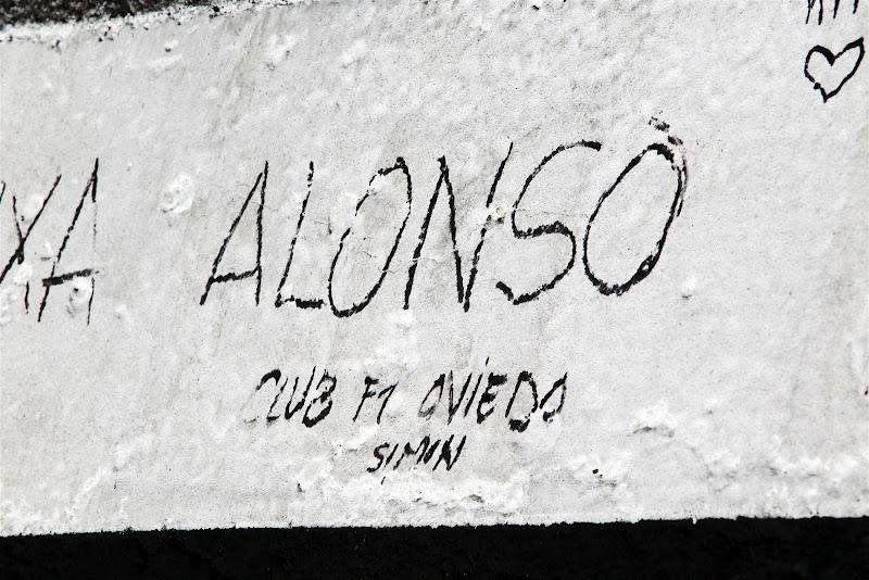 послания болельщиков Фернандо Алонсо на асфальте Хунгароринга на Гран-при Венгрии 2012
