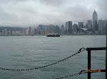 Taking the Star Ferry across to Hong Kong island on our last day - part of the Premiere Big Bus Tour package