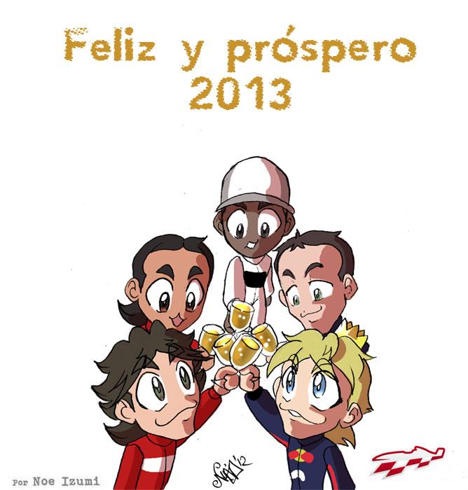 F1 Chibis Happy New Year 2013 by Noe Izumi